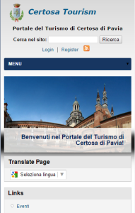 CertosaTourism.it mobile preview