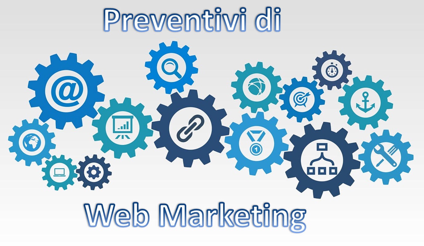 Ottieni il preventivo di Web Marketing più adatto alle tue esigenze: Servizi SEO e ADWords, Social Media Marketing & Accounting, Grafica 2D/3D, Multimedia e Video, Photoshop, Contenuti, Siti, App ...
